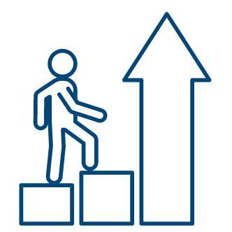 career growth icon blue